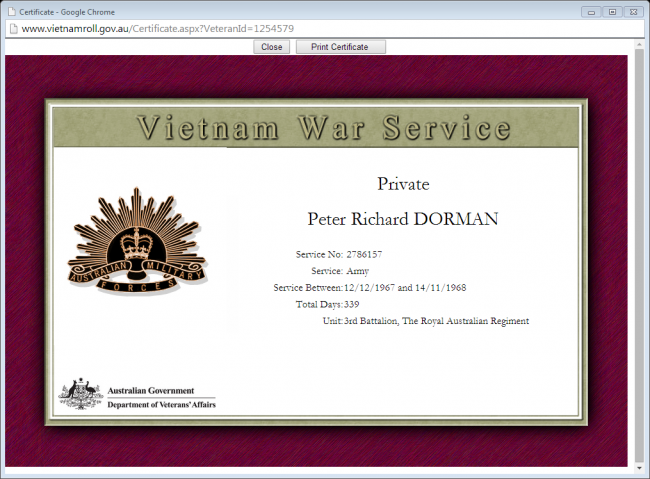 war service record