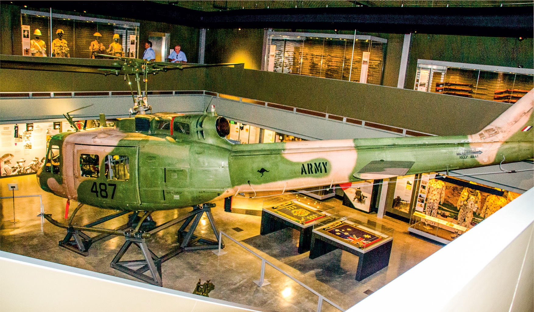 Huey in the museum.