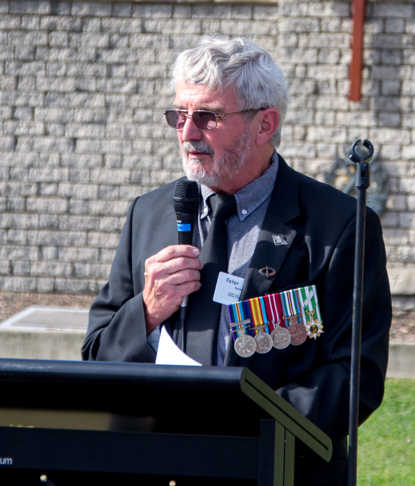 Peter Dorman leading the Memorial Service for the Battle of Kapyong